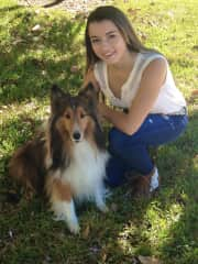 Our family dog, Carlo, with my daughter 8 years ago in Florida. Carlo has since sadly crossed the rainbow bridge.
