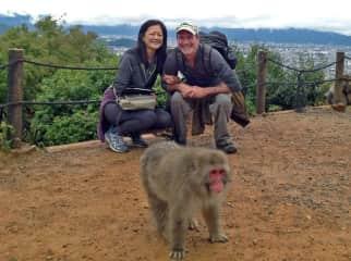 Us in a monkey park outside Kyoto