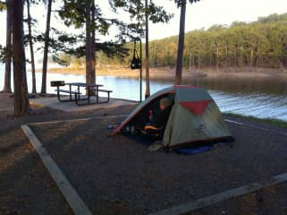 Camping trip at the Ouachita State Park