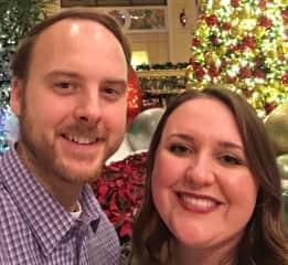 My husband and me celebrating the holidays!
