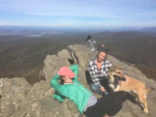 A mountaintop hike with our dog Mimi
