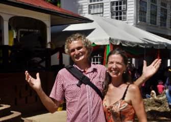 Trudy and Peter in Paramaribo (Surinam).