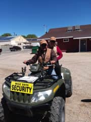 My husband, Frank, and I volunteer for Security detail annually for Mule Days in Bishop CA