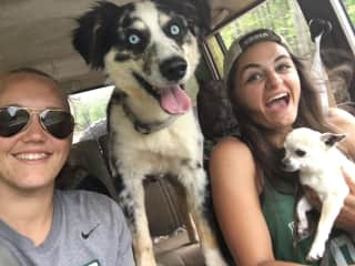 Me, Kayla, Colt (Aussie), and The Fi.