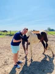 "Enjoying farming life. It was a pleasure to feed ""Emanuel""."
