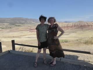 Road trip with a stop at  Painted Hills, OR