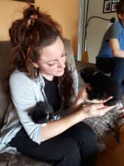 With kittens in Gatineau!