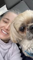A selfie with Sophie in December 2020.