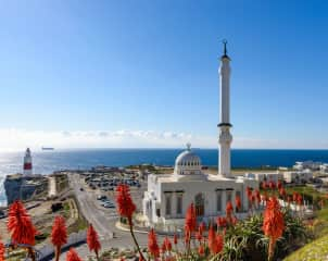 Europa Point with views of Northern Africa