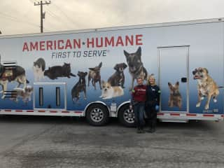 Partnering with Humane Society of the United States, I worked along side actress Barbara Niven.