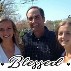 Our family. My husband, Joe is a high school math and history teacher and a retired Navy Reserve Captain. He is with Christy and Hannah, our youngest daughter, a Navy nurse.