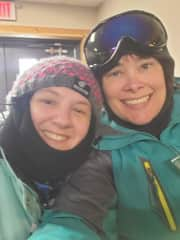 We attempted skiing. Not a failure...not a success. Lol