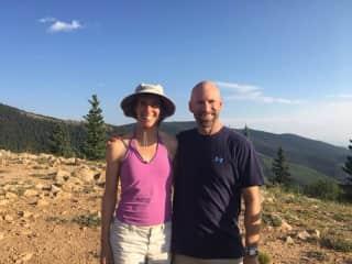 Jeff and I hiking in Santa Fe