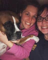 Jenn & Bestie Jackie hanging with Ms. Roxie  Nashville, TN, USA