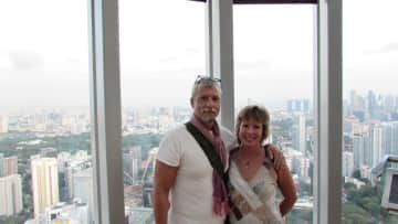 Bob and Kathy in Singapore