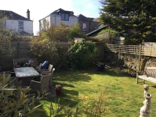 It is a brilliant garden ,gets the sun all day and we'll into the evening. Very sheltered and not over looked. 2 minute walk to the beautiful Elie Beach.