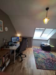 Office that can also be used as a guest room .