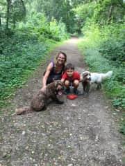 Woody, Bramble with Elisabeth & Ulysse, Summer 2016