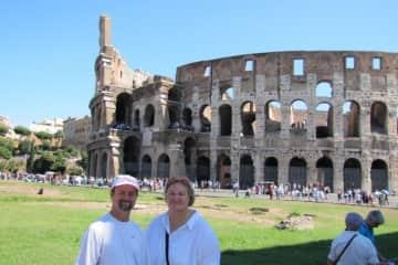 Bill and Marsha in Rome
