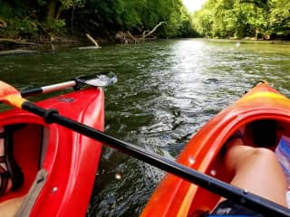 We enjoy kayaking and other outdoor activities.