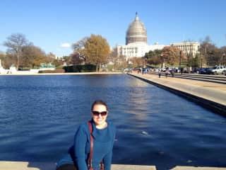 Enjoying a visit to Washington, D.C.