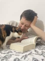 Me (Julia) and my Cat Pupsi <3