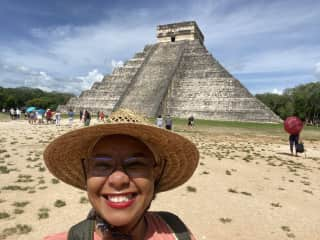 Checking out Chichén-Itzá in Mexico.