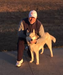 Joe with Cosmo in Colorado while his mommy went to Thailand