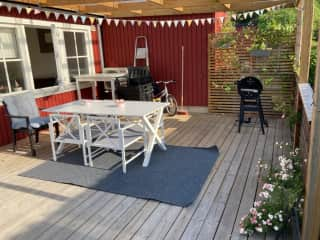Front deck with BBQ