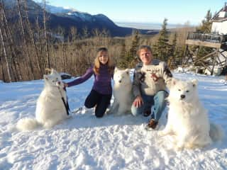 In Alaska with Polar, Glacier and Cedar