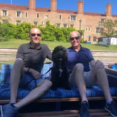Punting on the River Cam with Nelson the Cockapoo