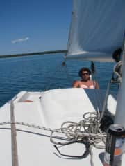 Sailing on Colpoys Bay.