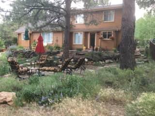 Back yard, multiple patios