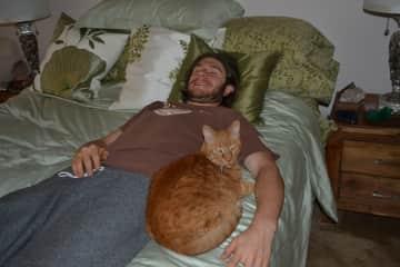 Merlin the Cat in love with Jordan.