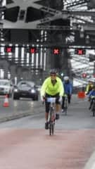 Doing the Spring Cycle over the Sydney Harbour bridge