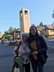 Reconnecting with my elementary school principal on the Stanford campus