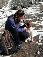 In the Troodos Mountains in Cyprus with Maggie