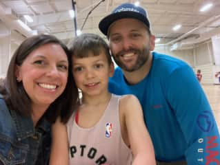 First basketball season with dad as coach!
