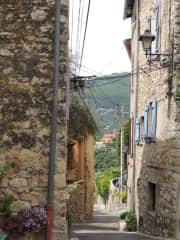 The view of Magagnosc village from our street