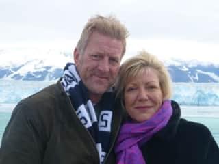 David and Nicky staying warm in Alaska