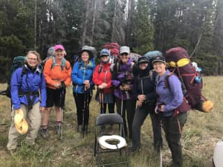 With a bunch of great women friends on our annual backpack trip