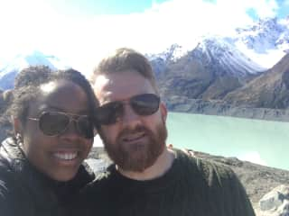 Turlough and Leslie in New Zealand