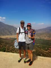 Mark and Edwina on a hike in Morocco, exploring local Berber villages