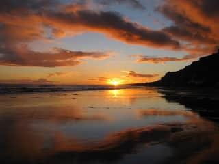 Sunset at Kai Iwi