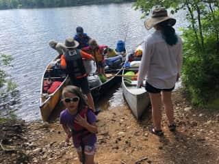 3 generation canoe trip summer 2019