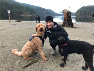 Audra, Kona and Guinness/ Housesit Anmore BC