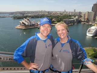 Kathryn and Chris Sydney Harbour Bridge Climb