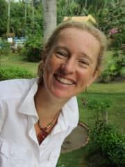 Andrea in the garden