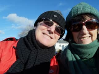 Both of us, Simon and Dee on a recent walk