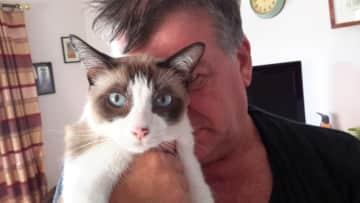 Kalle cat and Steve